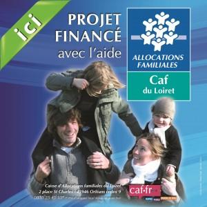 Panneau chantier Caf du Loiret financeur